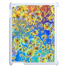 Color Particle Background Apple Ipad 2 Case (white)