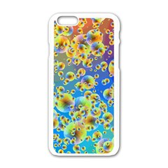 Color Particle Background Apple Iphone 6/6s White Enamel Case