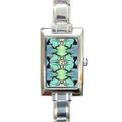 Branches With Diffuse Colour Background Rectangle Italian Charm Watch