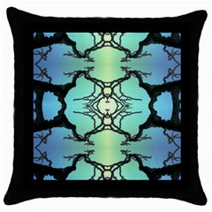 Branches With Diffuse Colour Background Throw Pillow Case (black)