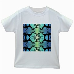 Branches With Diffuse Colour Background Kids White T Shirts