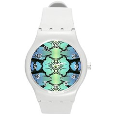 Branches With Diffuse Colour Background Round Plastic Sport Watch (m) by Nexatart