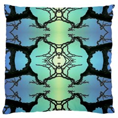 Branches With Diffuse Colour Background Large Flano Cushion Case (one Side)
