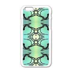 Branches With Diffuse Colour Background Apple Iphone 6/6s White Enamel Case