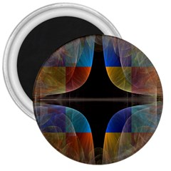 Black Cross With Color Map Fractal Image Of Black Cross With Color Map 3  Magnets by Nexatart