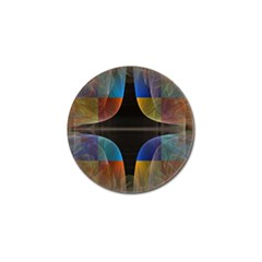 Black Cross With Color Map Fractal Image Of Black Cross With Color Map Golf Ball Marker (4 pack) by Nexatart