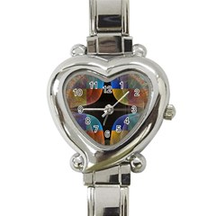 Black Cross With Color Map Fractal Image Of Black Cross With Color Map Heart Italian Charm Watch