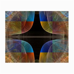 Black Cross With Color Map Fractal Image Of Black Cross With Color Map Small Glasses Cloth by Nexatart