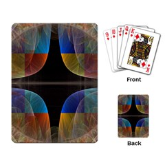 Black Cross With Color Map Fractal Image Of Black Cross With Color Map Playing Card by Nexatart