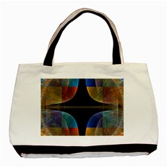 Black Cross With Color Map Fractal Image Of Black Cross With Color Map Basic Tote Bag by Nexatart