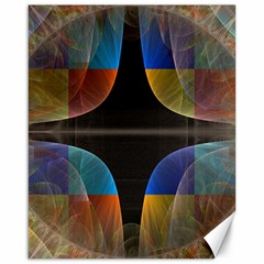 Black Cross With Color Map Fractal Image Of Black Cross With Color Map Canvas 16  X 20   by Nexatart