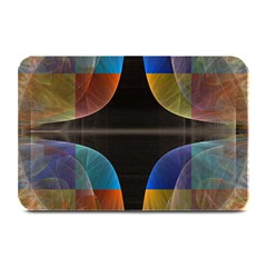 Black Cross With Color Map Fractal Image Of Black Cross With Color Map Plate Mats by Nexatart