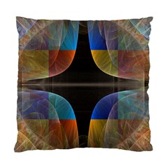 Black Cross With Color Map Fractal Image Of Black Cross With Color Map Standard Cushion Case (one Side) by Nexatart