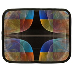 Black Cross With Color Map Fractal Image Of Black Cross With Color Map Netbook Case (xl)  by Nexatart