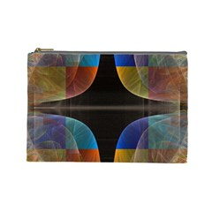 Black Cross With Color Map Fractal Image Of Black Cross With Color Map Cosmetic Bag (large)  by Nexatart
