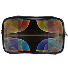 Black Cross With Color Map Fractal Image Of Black Cross With Color Map Toiletries Bags 2 Side