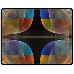 Black Cross With Color Map Fractal Image Of Black Cross With Color Map Fleece Blanket (medium)  by Nexatart