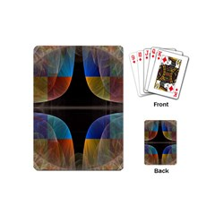 Black Cross With Color Map Fractal Image Of Black Cross With Color Map Playing Cards (mini)  by Nexatart