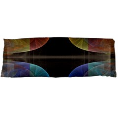 Black Cross With Color Map Fractal Image Of Black Cross With Color Map Body Pillow Case (dakimakura)