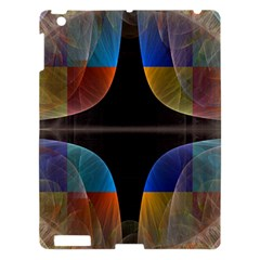 Black Cross With Color Map Fractal Image Of Black Cross With Color Map Apple Ipad 3/4 Hardshell Case