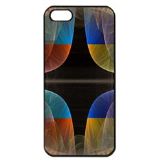 Black Cross With Color Map Fractal Image Of Black Cross With Color Map Apple Iphone 5 Seamless Case (black)