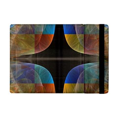Black Cross With Color Map Fractal Image Of Black Cross With Color Map Apple Ipad Mini Flip Case by Nexatart