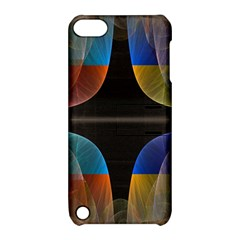 Black Cross With Color Map Fractal Image Of Black Cross With Color Map Apple Ipod Touch 5 Hardshell Case With Stand by Nexatart