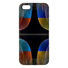 Black Cross With Color Map Fractal Image Of Black Cross With Color Map Apple Iphone 5 Premium Hardshell Case by Nexatart