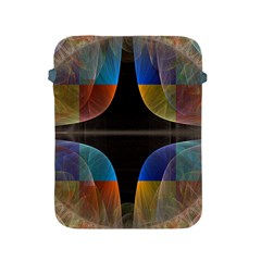 Black Cross With Color Map Fractal Image Of Black Cross With Color Map Apple Ipad 2/3/4 Protective Soft Cases by Nexatart