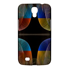 Black Cross With Color Map Fractal Image Of Black Cross With Color Map Samsung Galaxy Mega 6 3  I9200 Hardshell Case by Nexatart