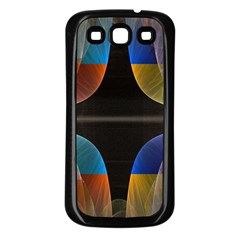 Black Cross With Color Map Fractal Image Of Black Cross With Color Map Samsung Galaxy S3 Back Case (black) by Nexatart