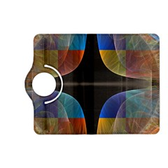 Black Cross With Color Map Fractal Image Of Black Cross With Color Map Kindle Fire Hd (2013) Flip 360 Case by Nexatart