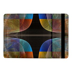 Black Cross With Color Map Fractal Image Of Black Cross With Color Map Samsung Galaxy Tab Pro 10 1  Flip Case by Nexatart