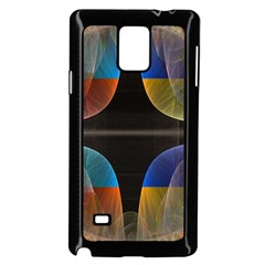 Black Cross With Color Map Fractal Image Of Black Cross With Color Map Samsung Galaxy Note 4 Case (black)