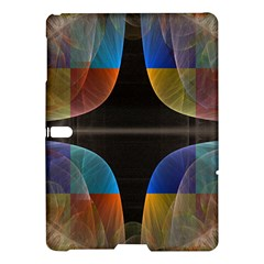 Black Cross With Color Map Fractal Image Of Black Cross With Color Map Samsung Galaxy Tab S (10 5 ) Hardshell Case  by Nexatart