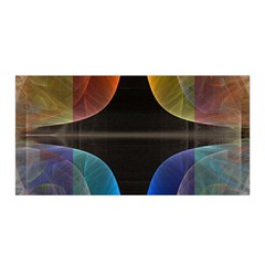 Black Cross With Color Map Fractal Image Of Black Cross With Color Map Satin Wrap by Nexatart