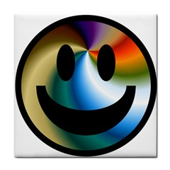 Simple Smiley In Color Tile Coasters by Nexatart