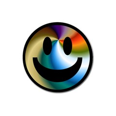 Simple Smiley In Color Magnet 3  (round)