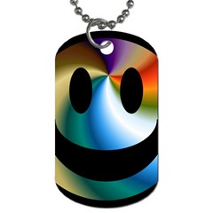 Simple Smiley In Color Dog Tag (two Sides)