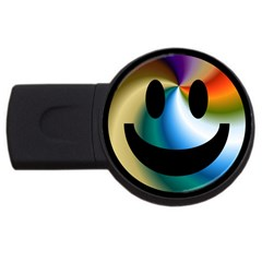 Simple Smiley In Color Usb Flash Drive Round (4 Gb) by Nexatart