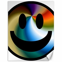 Simple Smiley In Color Canvas 12  X 16