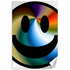 Simple Smiley In Color Canvas 20  X 30   by Nexatart
