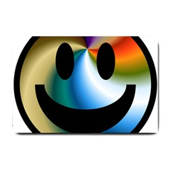 Simple Smiley In Color Small Doormat  by Nexatart