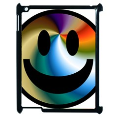 Simple Smiley In Color Apple Ipad 2 Case (black)