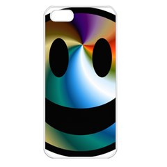 Simple Smiley In Color Apple Iphone 5 Seamless Case (white)