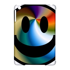 Simple Smiley In Color Apple Ipad Mini Hardshell Case (compatible With Smart Cover)