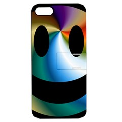 Simple Smiley In Color Apple Iphone 5 Hardshell Case With Stand by Nexatart