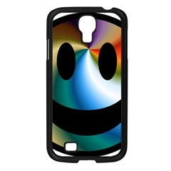 Simple Smiley In Color Samsung Galaxy S4 I9500/ I9505 Case (black) by Nexatart