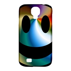 Simple Smiley In Color Samsung Galaxy S4 Classic Hardshell Case (pc+silicone) by Nexatart