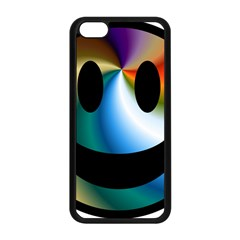 Simple Smiley In Color Apple Iphone 5c Seamless Case (black) by Nexatart